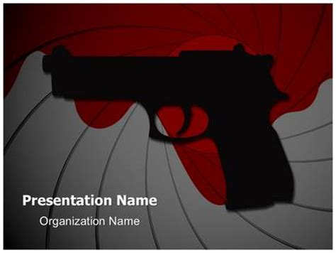 powerpoint templates james bond james bond gun powerpoint template background