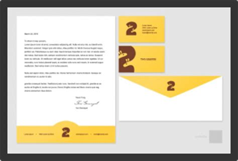 Business Card Letterhead Envelope Template stationary template business card letterhead and