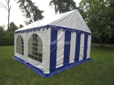 pavillon regenfest partyzelt bierzelt pavillon zelt 4x4 m blau wei 223