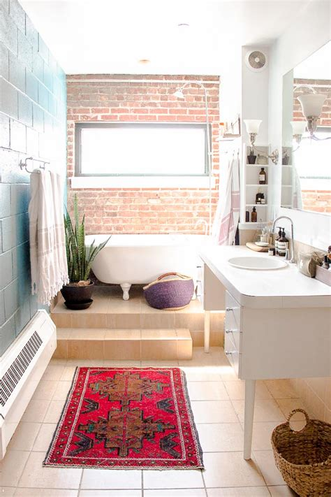 brick in a bathroom an open and industrial loft in design sponge