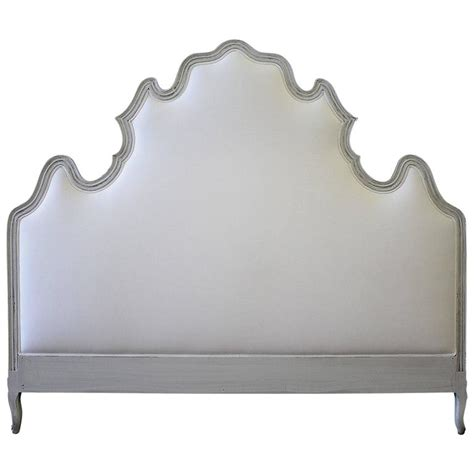 vintage king headboard vintage king size louis xv style painted and upholstered