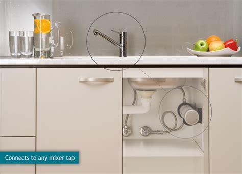 water filter under kitchen sink hiflow undersink inline water filter system for mains tap