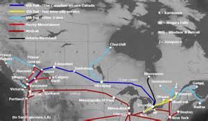 canada via rail map viajando en tren por el canad 225