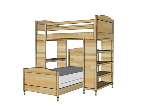 Bunk Bed Design Plans Free Plans For Building A Size Loft Bed Woodworking Projects