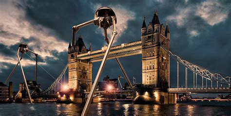 the worlds war war of the worlds london digital art by peter chilelli