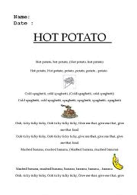 Potato Lyrics by Worksheets Potato Song