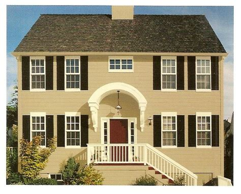 exterior paint color combinations the butter with black shutters and reddish brown door