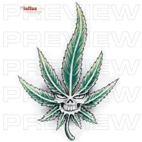 skull pot leaf tattoo designs tattoovox award winning designs stoned