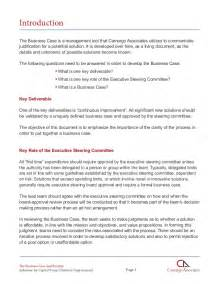 Justification Template by Business Justification Solutions For Capital