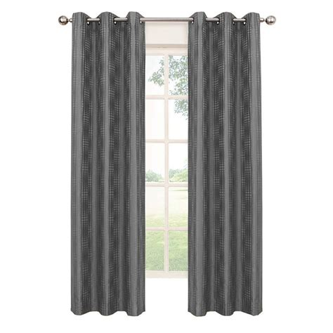 eclipse curtains blackout eclipse captree blackout smoke polyester grommet curtain