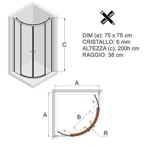 box doccia semicircolare 75x75 box doccia 75x75 semicircolare cristallo trasparente