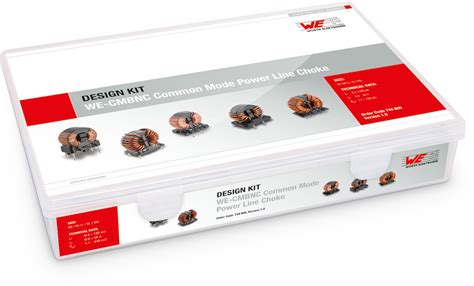 design kits online common mode power line chokes we cmbnc design kits emc