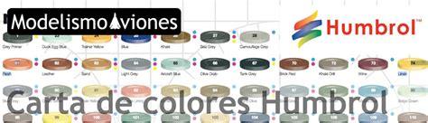 humbrol tabla de colores y equivalencias carta de colores humbrol hobby maquetas y modelismo