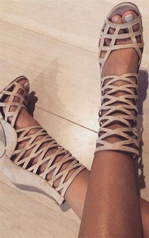 justina peep toe cage heels  cream ikrush