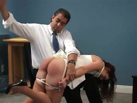 Brunette Takes Otk Spanking Free Spanking Mobile Porn Video