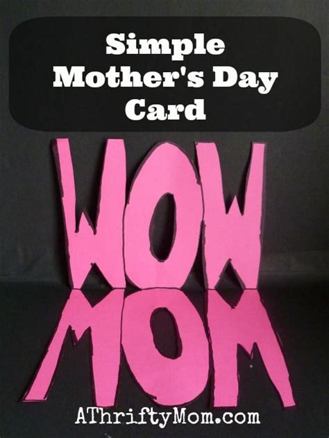 simple mother s day card ideas simple as that simple mother s day card mom wow card mothersday diy
