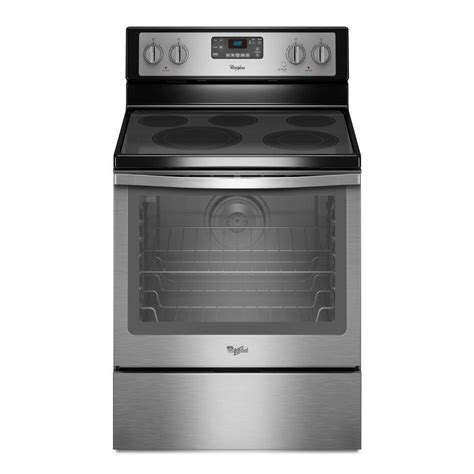 Cleaning Stainless Steel Oven Racks by Whirlpool 6 4 Cu Ft Electric Range With Self Cleaning