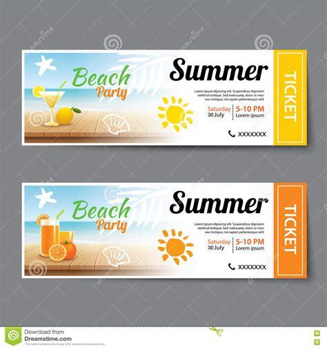doc 585561 party tickets templates bizdoska com