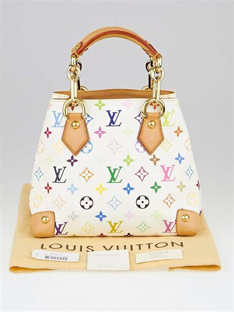 louis vuitton white monogram multicolore audra bag yoogi