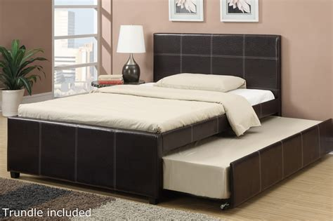 full size trundle bed poundex f9214f full size bed with trundle in los angeles ca