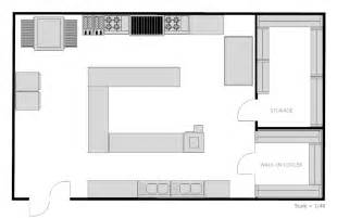 Kitchen Floor Plans by Example Image Restaurant Kitchen Floor Plan This N That