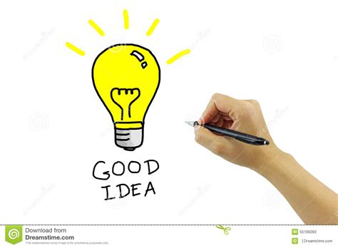 what a good idea to do and of all the memories made from hand with pen drawing big yellow light bulb with good idea