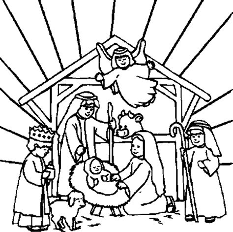 Jesus born in manger pictures and christ nativity images coloring