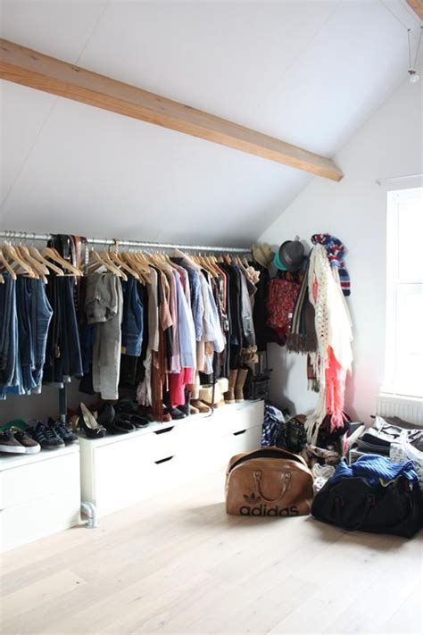 closet ideas for attic bedrooms open space closets for those who are organized and want