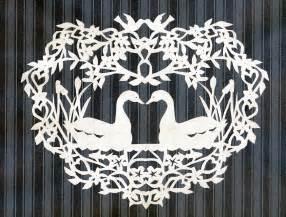 pak art alaska swan scherenschnitte paper cutting
