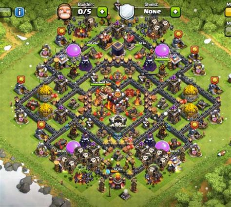 top 10 clash of clans town hall 6 trophy base layouts clash of clans level 6 town hall defense www imgkid com
