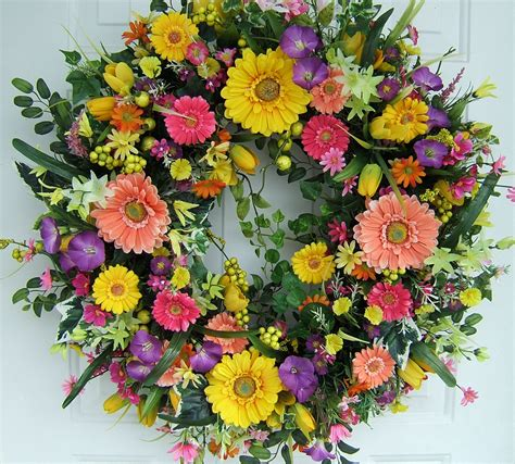 spring door wreaths xl spring wreath spring door wreath 29 round floral