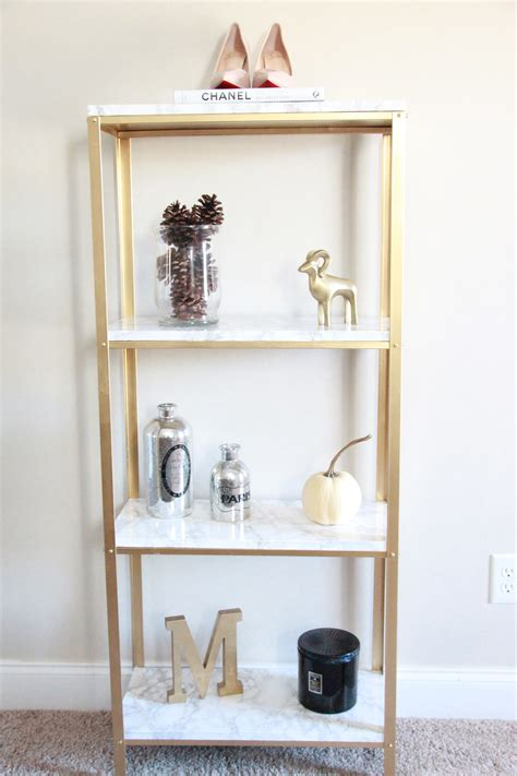 the easiest diy hack to glam your 14 99 ikea hyllis shelf