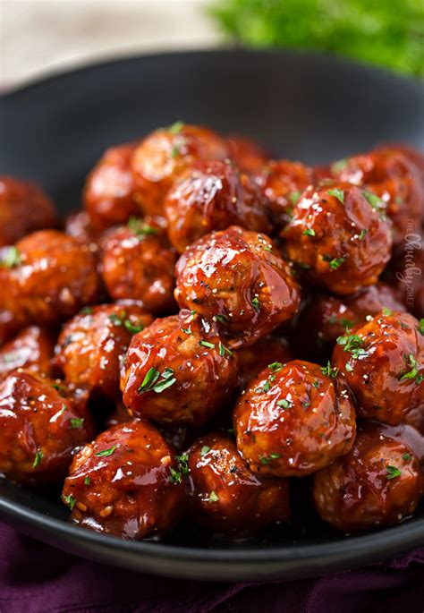 cranberry bbq crockpot meatballs the chunky chef