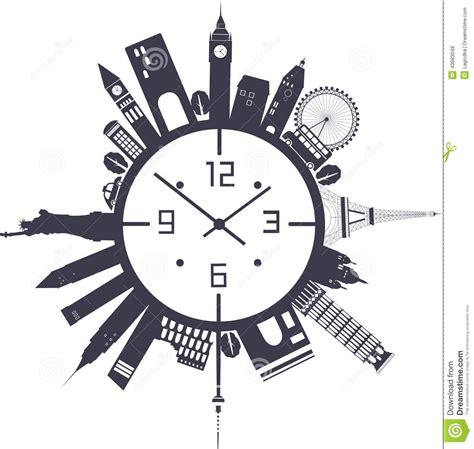 imagenes de vacaciones en blanco y negro reloj de viaje en blanco y negro ilustraci 243 n del vector