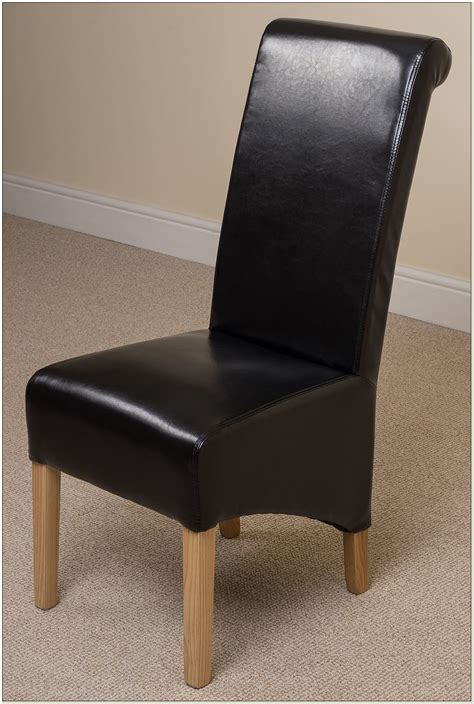 ebay black leather dining chairs chairs home