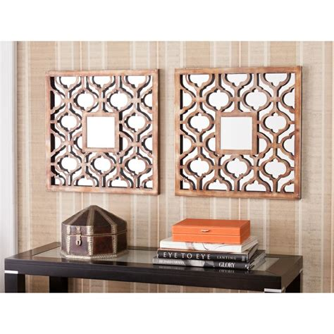 Decorative Mirror Sets by Upton Home Berendo Square Decorative Wall Mirror 2pc Set