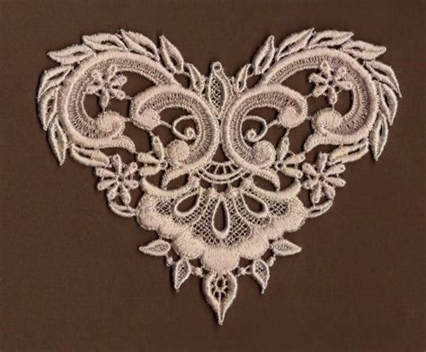 victorian lace tattoo dyed venise lace applique fancy