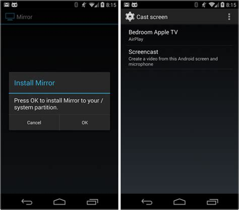 mirror app android mirror beta app on android 4 4 2 root does screencast airplay mirroring