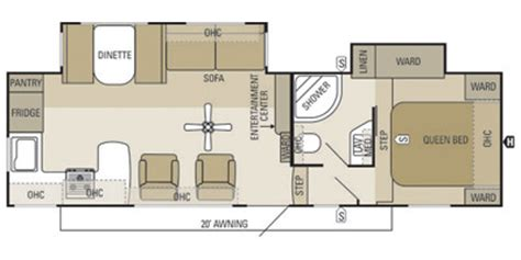 starcraft fifth wheel floor plans 2013 starcraft travel star 174 fifth wheel 275rks floorplan