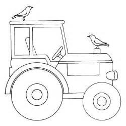 Kostenlose Malvorlage Bauernhof Traktor Zum Ausmalen sketch template