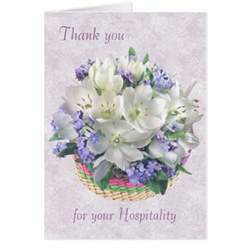 thank you hospitality card crocuses forget me not zazzle