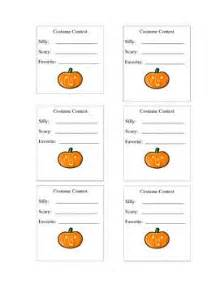 Voting Slips Template by Costume Contest Vote