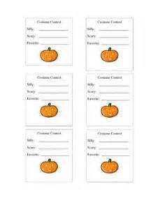voting slip template costume contest vote