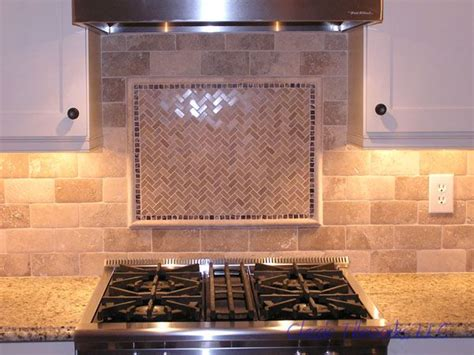 stone subway tile backsplash they chose this 3x6 travertine tile to install in a brick