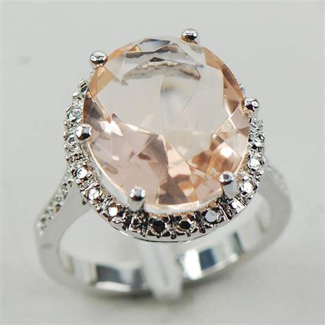 morganite silver gold filled gemstone ring size 10 f974 ebay