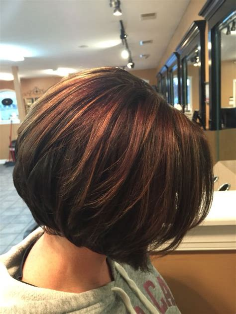 dark brown highlited bob sexy haircuts inverted bob chocolate brown with caramel highlights