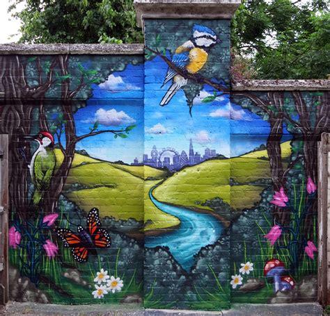 Community Graffiti Art Murals In The Garden Wall Mural