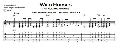 guitar tutorial wild horses the rolling stones wild horses jerry s guitar bar