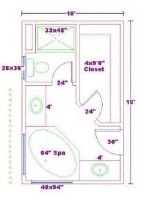 Master Bathroom Floor Plans Bathroom And Closet Floor Plans Plans Free 10x16