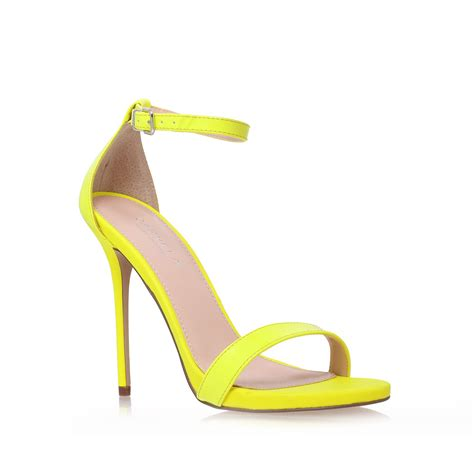 high heels sandals pics carvela kurt geiger clacier high heel sandals in yellow lyst